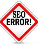 Các lỗi thường mắc phải khi làm SEO