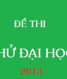 Đề thi thử đại học lần I môn vật lý năm 2013 - Trường THPT chuyên Phan Bội Châu_Nghệ An