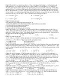 Đề thi đại học khối A môn Vật lý (có đáp án)