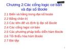 Chương 2:Các cổng logic cơ bản và đại số Boole