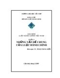 Giáo trình Luật hành chính Việt Nam: Phần 1 - Phan Trung Hiền