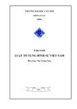 Giáo trình Luật tố tụng Hình sự Việt Nam  - Mạc Giáng Châu