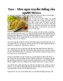 Taco – Món ngon truyền thống của người Mêxico