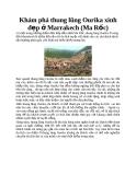 Khám phá thung lũng Ourika xinh đẹp ở Marrakech (Ma Rốc)