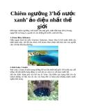 Chiêm ngưỡng 3 'hố nước xanh' ảo diệu nhất thế giới