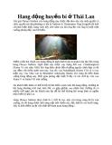 Hang động huyền bí ở Thái Lan