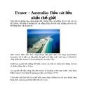 Fraser – Australia: Đảo cát lớn nhất thế giới