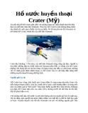 Hồ nước huyền thoại Crater (Mỹ)