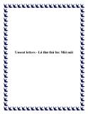 Unsent letters - Lá thư thứ ba