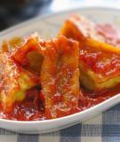 Đậu phụ nhồi thịt om cà chua