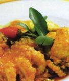 Râu bạch tuộc xốt đậu tương