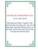 VĂN BẢN QUY PHẠM PHÁP LUẬT 22/2013/QĐ-UBND