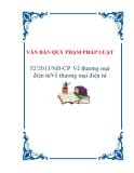 VĂN BẢN QUY PHẠM PHÁP LUẬT 52/2013/NĐ-CP