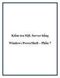Kiểm tra lập trình SQL Server bằng Windows PowerShell