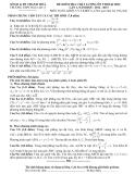 SỞ GD & ĐT THANH HOÁ TRƯỜNG THPT HẬU LỘC 4 ĐỀ KIỂM TRA CHẤT LƯỢNG ÔN THI ĐẠI HỌC LẦN 1, NĂM HỌC: 2012 - 2013 MÔN TOÁN, KHỐI A VÀ KHỐI A1