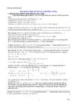 BTài liệu toán học, cách giải bài tập toán, phương pháp học toán, bài tập toán học, cách giải nhanh toánài toán tiếp tuyến của đường cong