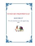 VĂN BẢN QUY PHẠM PHÁP LUẬT36/2013/NĐ-CP Về vị trí việc làm và cơ cấu ngạch công chức