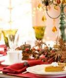 Nghệ thuật trang trí bàn ăn Giáng sinh