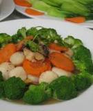 Sò điệp xào bông cải xanh