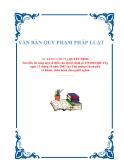 VĂN BẢN QUY PHẠM PHÁP LUẬT Số: 14/2012/QĐ-TTg