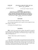 Số: 09/2011/NĐ-CP NGHỊ ĐỊNH Sửa đổi, bổ sung chế độ ăn và khám, chữa bệnh đối với người bị tạm giữ, tạm giam quy định tại Điều 26