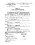 Số: 37/2010/TT-BNNPTNT Ban hành Quy chuẩn kỹ thuật quốc gia về chỉ tiêu vệ sinh