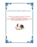 VĂN BẢN QUY PHẠM PHÁP LUẬTSố: 18/2011/TTLT-BGDĐT-BYT THÔNG TƯ LIÊN TỊCH Quy định các nội dung đánh giá công tác y tế tại các trường tiểu học, trường trung học cơ sở, trường trung học phổ thông và trường phổ thông có nhiều cấp học