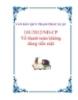 VĂN BẢN QUY PHẠM PHÁP LUẬT101/2012/NĐ-CP Về thanh toán không dùng tiền mặt