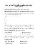 MỘT SỐ BÀI TẬP TRẮC NGHIỆM ESTE-LIPIT HÓA HỮU CƠ I. ĐỒNG PHÂN, DANH PHÁP, CÔNG THỨC TỔNG QUÁT