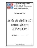 Tuyển tập 25 đề thi vật lý năm 2013