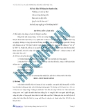 Nghị luận xã hội - Đề bài: Bác Hồ khuyên thanh niên