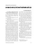 """Báo cáo """" Quy định của pháp luật Việt Nam về người không quốc tịch """""""