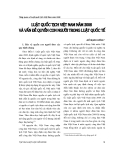 """Báo cáo """" Luật quốc tịch Việt Nam năm 2008 và vấn đề quyền con người trong luật quốc tế """""""