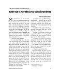 """Báo cáo """" Sự hình thành và phát triển của pháp luật quốc tịch Việt Nam """""""
