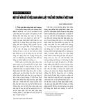 """Báo cáo """"  Một số vấn đề về ban hành luật thuế môi trường ở Việt Nam """""""