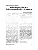 """Báo cáo """" Người Việt Nam định cư ở nước ngoài và các quy định của Luật quốc tịch Việt Nam năm 2008 """""""