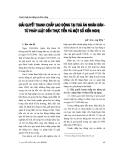 """Báo cáo """" Giải quyết tranh chấp lao động tại toà án nhân dân - từ pháp luật đến thực tiễn và một số kiến nghị """""""