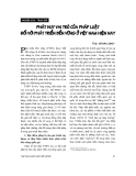 """Báo cáo """" Phát huy vai trò của pháp luật đối với phát triển bền vững ở Việt Nam """""""