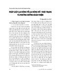 """Báo cáo """" Pháp luật lao động về lao động nữ - thực trạng và phương hướng hoàn thiện """""""