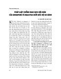 """Báo cáo """" Pháp luật chống giao dịch nội gián của Singapore và Malaysia dưới góc độ so sánh """""""