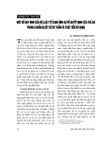 """Báo cáo """" Một số quy định của bộ luật tố tụng hình sự về quyết định của toà án trong chuẩn bị xét xử sơ thẩm và thực tiễn áp dụng """""""