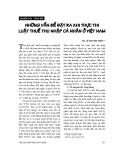 """Báo cáo """" Những vấn đề đặt ra khi thực thi luật thuế thu nhập cá nhân Việt Nam """""""