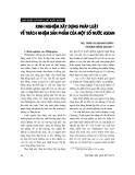 """Báo cáo """" Kinh nghiệm xây dựng pháp luật về trách nhiệm sản phẩm của một số nước ASEAN """""""