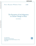the perception  of and adaptation to climate change in africa