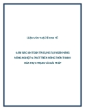 LUẬN VĂN THẠC SĨ:   ĐẢM BẢO AN TOÀN TÍN DỤNG TẠI NGÂN HÀNG  NÔNG NGHIỆP & PHÁT TRIỂN NÔNG THÔN THANH  HÓA THỰC TRẠNG VÀ GIẢI PHÁP