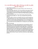 Các cách để làm giảm điện trở kháng của đất cho phần tiếp địa chống sét