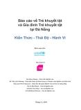Báo cáo về Trẻ khuyết tật và Gia đình Trẻ khuyết tật tại Đà Nẵng Kiến Thức - Thái Độ - Hành Vi