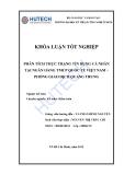 Luận văn:Phân tích thực trạng tín dụng cá nhân tại NH TMCP Quốc tế VN - phòng GD Quang Trung