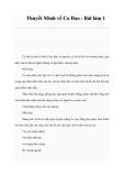 Thuyết Minh về Ca Dao - Bài làm 1