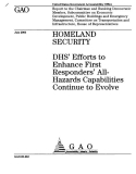 homeland security dhs efforts to enhance first responders